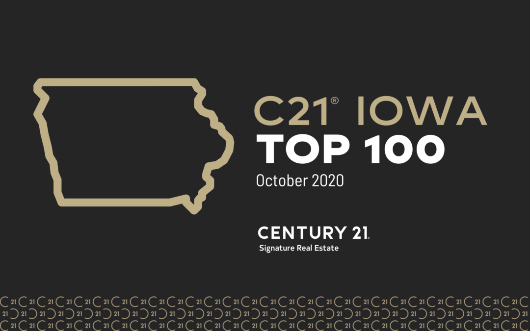 CENTURY 21 Iowa Top 100- 2020 Rankings (JAN-OCTOBER 2020)