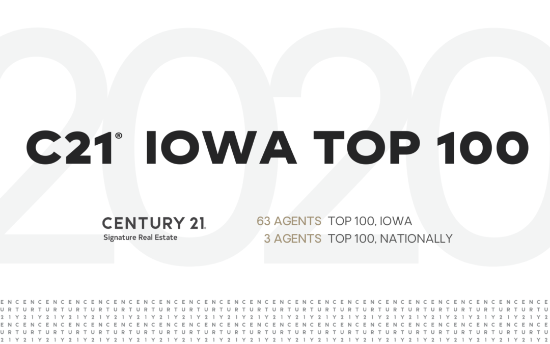 CENTURY 21 Iowa Top 100- 2020 Rankings