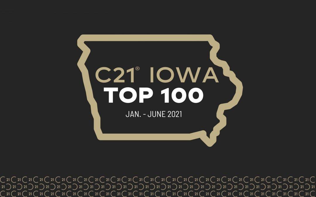 CENTURY 21 Iowa Top 100- 2021 Rankings (JAN-JUNE 2021)