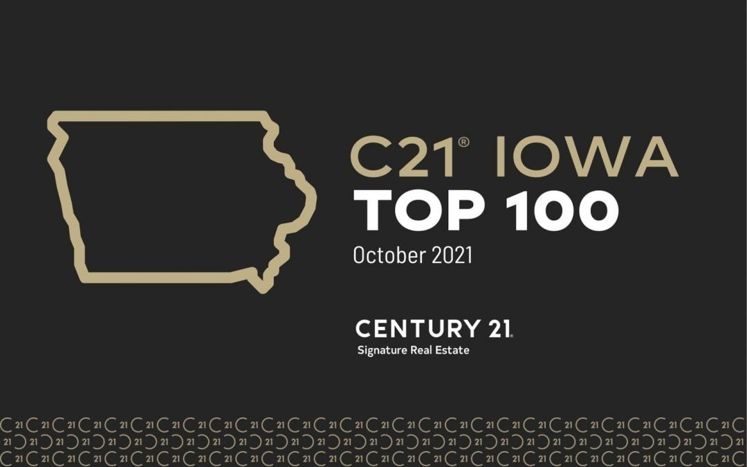 CENTURY 21 Iowa Top 100- 2021 Rankings (JAN-SEP 2021)